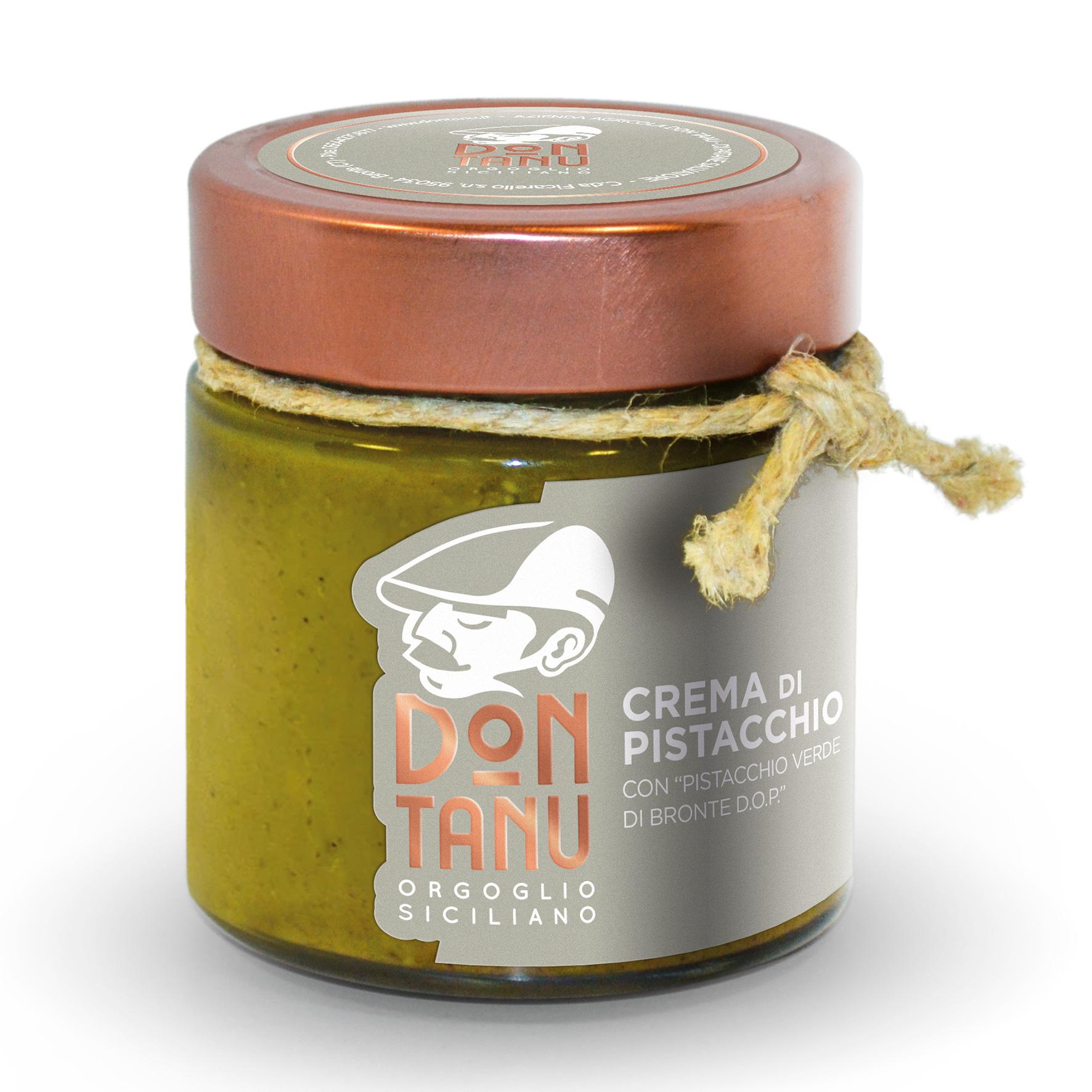 Crema spalmabile dolce di pistacchio verde di Bronte DOP 200 g